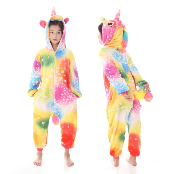 9636d484d2c6 Yellow Star Unicorn Onesie Pajamas For Boys   Girls Quality Animal ...